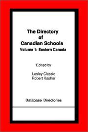 Cover of: Eastern Canada (Directory of Canadian Schools)