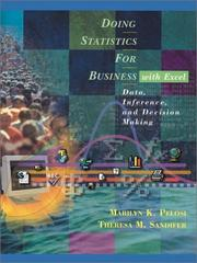 Cover of: Doing Statistics for Business With Excel