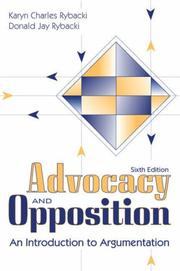 Cover of: Advocacy and Opposition