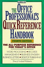 Cover of: Arco the Office Professional's Quick Reference Handbook (Webster's New World Office Professional's Desk Reference)