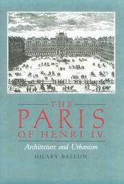 Cover of: The Paris of Henry IV