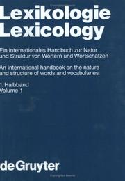 Cover of: Lexikologie