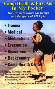Cover of: Camp Health and First Aid in My Pocket