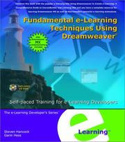Cover of: Fundamental e-Learning Techniques Using Dreamweaver