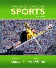 Cover of: Economics of Sports, The (3rd Edition) (The Addison-Wesley Series in Economics)
