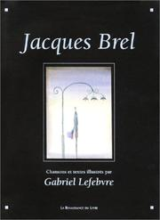 Cover of: Jacques Brel