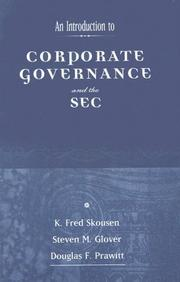 Cover of: Introduction to the SEC and Corporate Governance