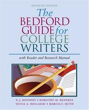 Cover of: The Bedford Guide for College Writers with Reader and Research Manual