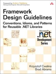 Cover of: Framework Design Guidelines