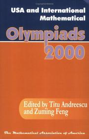Cover of: USA and International Mathematical Olympiads 2000