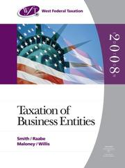 Cover of: West Federal Taxation 2008