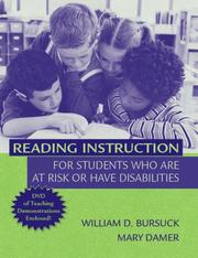 Cover of: Reading Instruction for Students Who Are at Risk or Have Disabilities