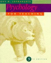 Cover of: Psychology for teaching