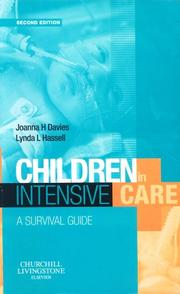Cover of: Children in Intensive Care