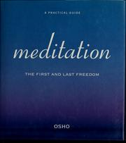 Cover of: Meditation