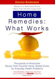 Cover of: Home Remedies: What Works