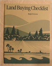 Cover of: Land buying checklist