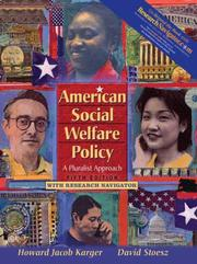 Cover of: American Social Welfare Policy