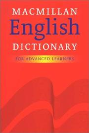 Cover of: Macmillan English Dictionary for Advanced Learners (Dictionary)