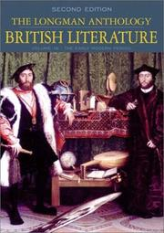 Cover of: The Longman Anthology of British Literature, Volume 1B