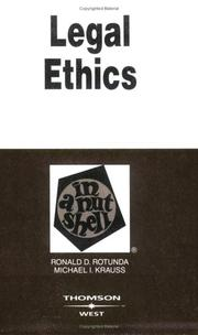 Cover of: Legal Ethics in a Nutshell (Nutshell Series) (Nutshell Series)