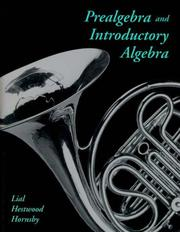 Cover of: Prealgebra and Introductory Algebra