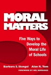 Cover of: Moral Matters