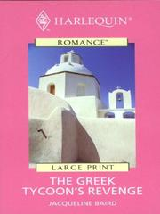 Cover of: The Greek Tycoon's Revenge