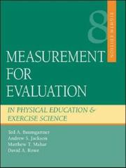 Cover of: Measurement for evaluation in physical education and exercise science