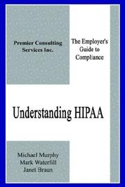 Cover of: Understanding HIPAA