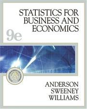 Cover of: Statistics for Business and Economics (with CD-ROM and InfoTrac) (Statistics for Business & Economics)