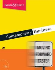 Cover of: Contemporary Business (with Audio CD-ROM)