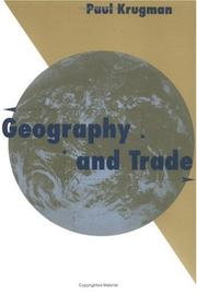 Cover of: Geography and Trade (Gaston Eyskens Lectures)
