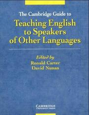 Cover of: The Cambridge Guide to Teaching English to Speakers of Other Languages. (Lernmaterialien)