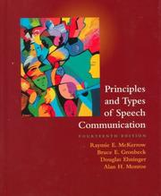 Cover of: Principles and Types of Speech Communication (14th Edition)