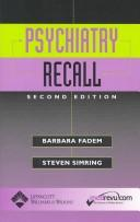 Cover of: Psychiatry recall