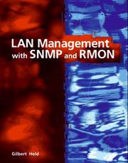 Cover of: LAN management with SNMP and RMON