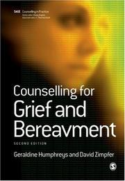 Cover of: Counselling for Grief and Bereavement (Counselling in Practice series)