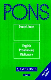 Cover of: PONS Wörterbuch, English Pronouncing Dictionary