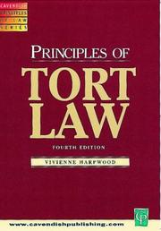 Cover of: Principles of Tort Law