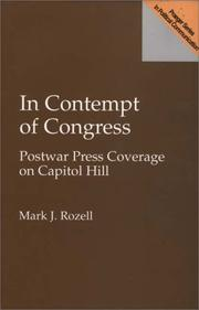 Cover of: In contempt of Congress