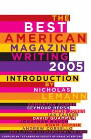 Cover of: The best American magazine writing, 2005