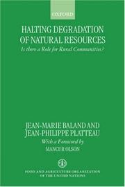 Cover of: Halting Degradation of Natural Resources