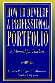 Cover of: How to develop a professional portfolio