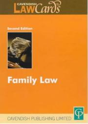 Cover of: Family Law (Lawcards)