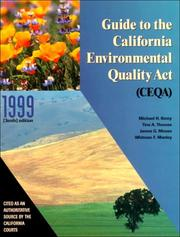 Cover of: Guide to the California Environmental Quality Act (Ceqa)