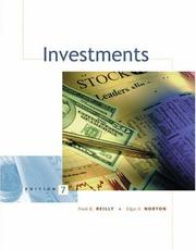 Cover of: Investments (with Thomson ONE - Business School Edition)