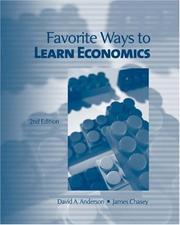 Cover of: Favorite Ways to Learn Economics