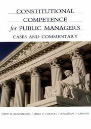 Cover of: Constitutional Competence for Public Managers