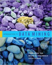 Cover of: Introduction to Data Mining, (First Edition)
